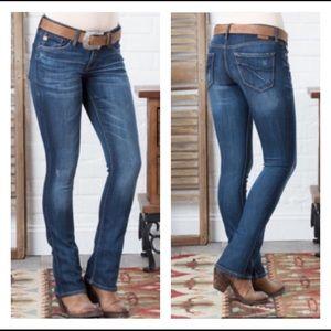 Dear John | Hybrid Skinny Bootcut Jeans in Abyss